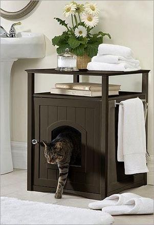 Picture of Litter Box Hideaway/Cat Washroom - Espresso