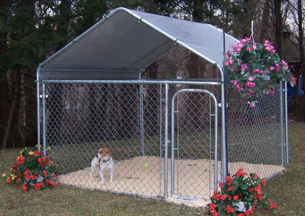 Picture of All Steel Dog Kennel - 4'