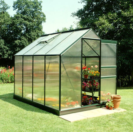 Picture of Halls Popular 86 Greenhouse - Green