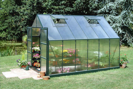 Picture of Halls Magnum 128 Greenhouse - Green