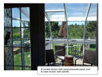 Picture of Eco SunRoom 8 Lean-To Greenhouse Kit - Acrylic