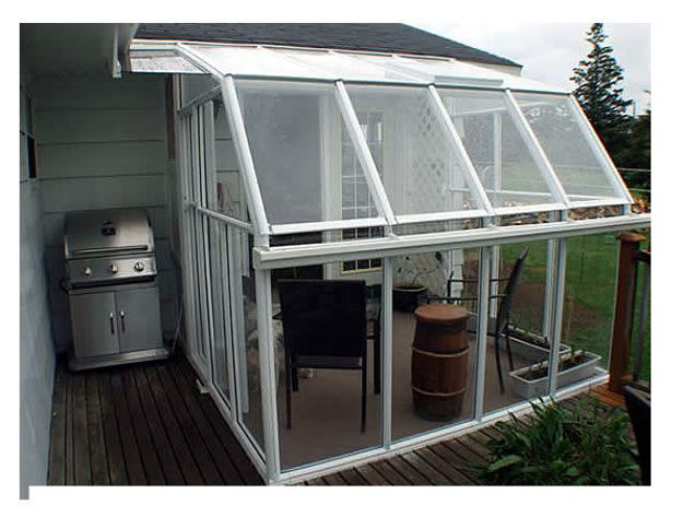 Picture of Eco SunRoom 12 Lean-To Greenhouse Kit - Acrylic