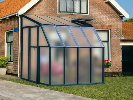 Picture of Eco SunRoom 8 Lean-To Greenhouse Kit - Poly