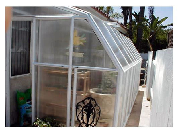 Picture of Eco SunRoom 16 Lean-To Greenhouse Kit - Poly