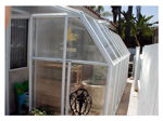 Picture of Eco SunRoom 24 Lean-To Greenhouse Kit - Poly