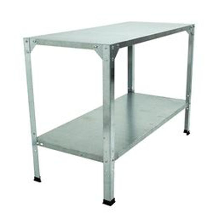 Picture of Galvanized Two Level Greenhouse Shelving System