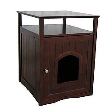 Picture of Litter Box Hideaway/Cat Washroom - Walnut