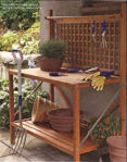 Picture of Foldable Wood Potting Bench