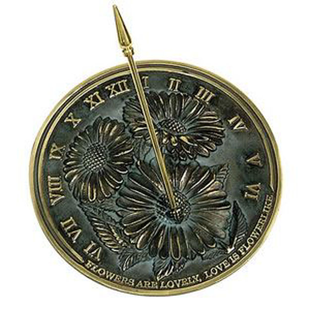 Picture of Brass Sundial - Flowers Are Lovely