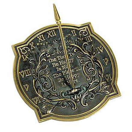 Picture of Brass Sundial - Happiness