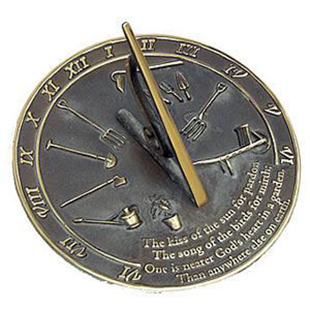 Picture of Brass Sundial - Kiss of the Sun
