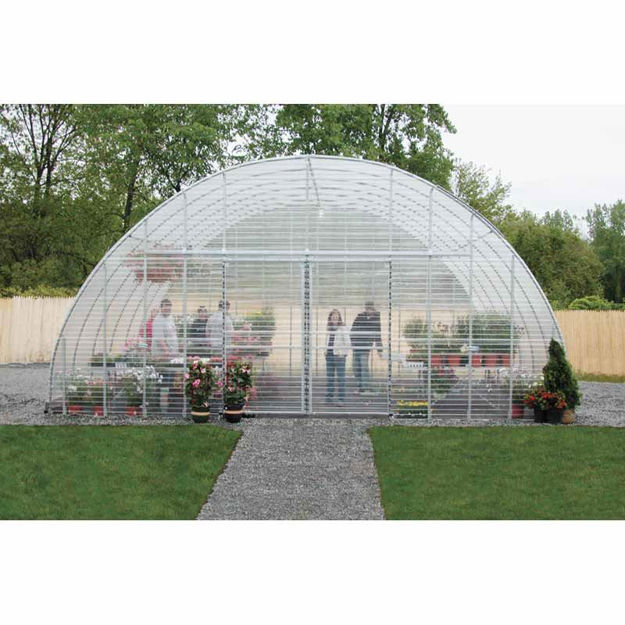 """Picture of Clear View Greenhouse Kit 20'W x 10'7""""H x 36'L - Propane"""