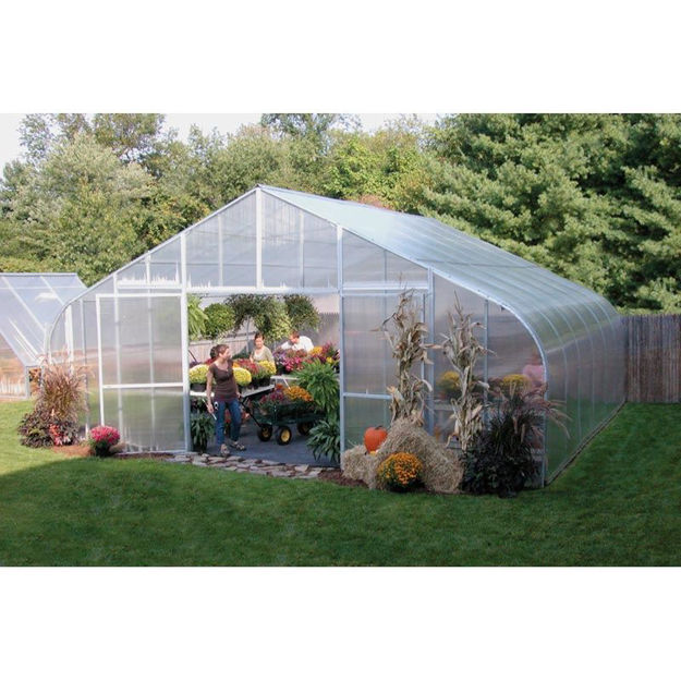 Picture of 26x12x48 Solar Star Gothic Greenhouse with Polycarbonate Ends and...