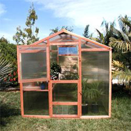 Picture for category SB Alameda 9' Redwood Greenhouses