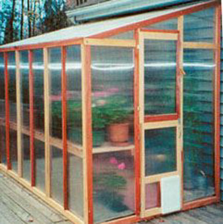 Picture for category SB Mariposa 7' Lean-To Redwood Greenhouses