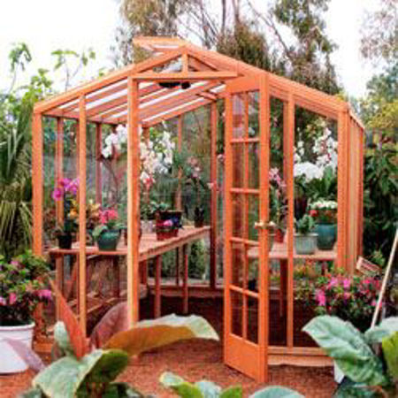 Picture for category SB Riverside 9' Redwood Greenhouses