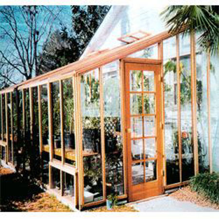 Picture for category SB Sonoma 12' Redwood Lean-To Greenhouses