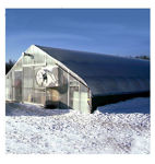 Picture of 30x12x96 Solar Star Gothic Greenhouse with Polycarbonate Top and...