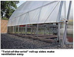 Picture of 34x12x40 Solar Star Gothic Greenhouse with Polycarbonate Top and...