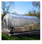 Picture of 34x12x96 Solar Star Gothic Greenhouse with Polycarbonate Top and...